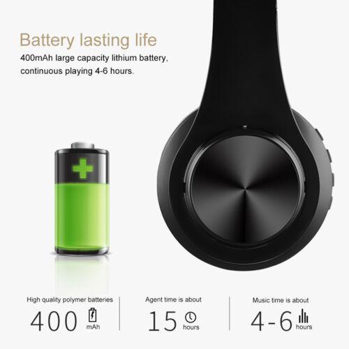 Wireless 5.0 Bluetooth Headphones Foldable Stereo Earphones Super Bass Headset