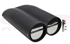 Shot gun BLACK Aluminum smooth  Race Hood Scoop chevy ford dodge air cleaner