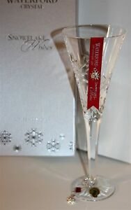 Waterford Crystal SNOWFLAKE WISHES Lismore JOY Flute Limited 1st Edition * NEW