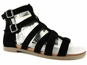 1ffc2d36c Steve Madden Women s Diver Gladiator Sandals Black Suede Size 8 M ...