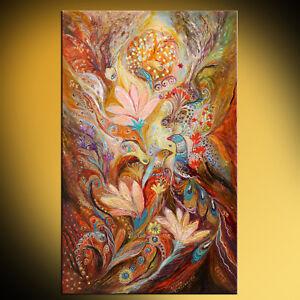 Lilies-and-Bell-flowers-mix-technique-expressionist-Jewish-art-Elena-Kotliarker