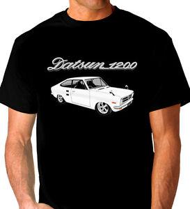 DATSUN-1200-COUPE-QUALITY-BLACK-T-SHIRT-7-CAR-COLOURS-BIG-FIT