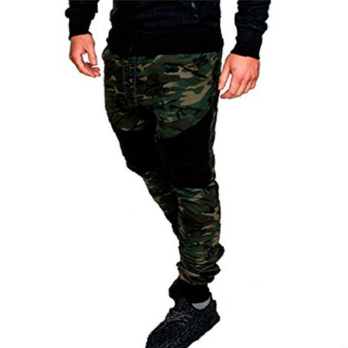 Men Camouflage Joggers Cargo Pants Combat Tactical Work Casual Bottoms Trousers