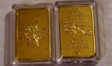 German Prussian Red Baron Fighter Blue Max Gold Clad War WWI Memorial Coin Bar X