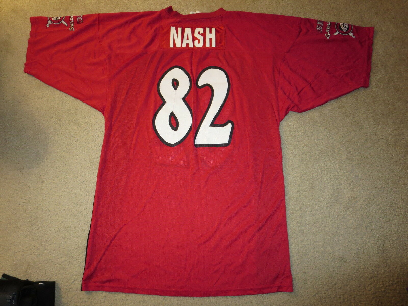 Marcus Nash  82 Las Vegas Gladiators Afl Afl Afl Arena Fußball League Trikot 483e74