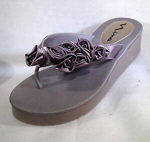 552303961a60f NINA Hilaria Silver Bridal Sandals with Rosettes 1 1 2