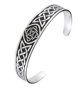 Stainless-Steel-Celtic-Knot-Bracelet-Cuff