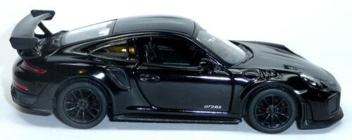 schwarz Sammlermodell ca 2017 Porsche 911 GT2 RS 991 12,5 cm Neuware Kinsmart