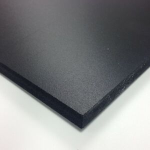 3mm Black Matt Foamex Foam PVC Sheet *10 SIZES TO CHOOSE*