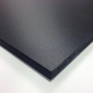 3mm Black Matt Foamex Foam PVC Sheet *10 SIZES TO CHOOSE*