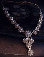 Butler & Wilson Vintage Pearl & Crystal Drop Necklace