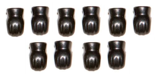 Playmobil Lotx5 Pair of Black very dark grey gloves Glove Soldier Armour armor