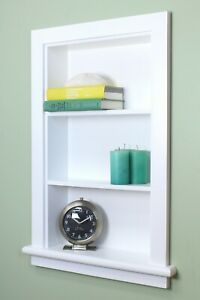 Recessed Aiden Wall Niche by Fox Hollow Furnishings (14x24) - BEAUTIFUL SHELVES