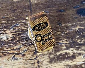 Vtg 1980's A&W Root Beer CREAM SODA Employee Promo Award Lapel Pin RARE Pinback!