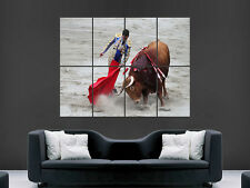 MATADOR BULL FIGHTING  GIANT WALL POSTER ART PICTURE PRINT LARGE