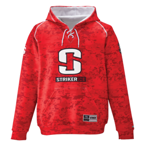 Striker hockey sobre hielo con capucha, camuflaje rojo, XX-grande 916216