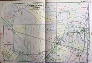 Fort Washington Map.1916 Montgomery County North Pennsylvania White Marsh Fort
