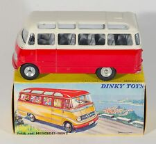 FRENCH Dinky 541 Mercedes Benz Autocar/Minibus. White/Red. RARE. 1960's/BOXED