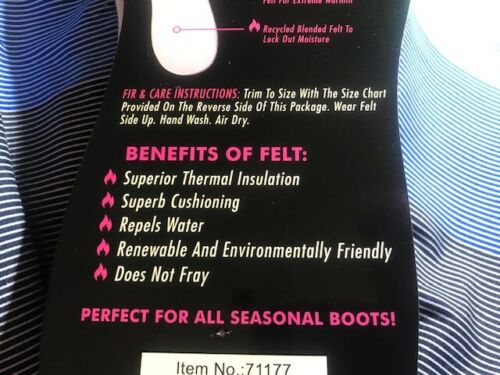 LOT OF 2-LADIES HEAT TRENDZ THERMAL INSOLES 13F 5-12 Trim to Fit Boots KEEP WARM