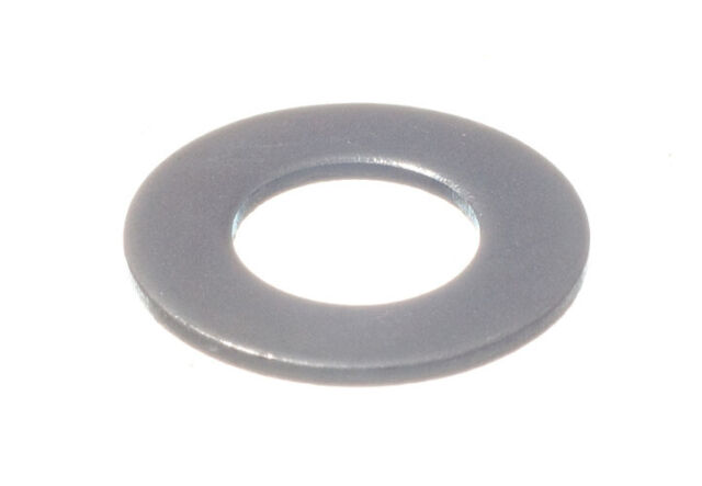 40 X FLAT STEEL PLAIN WASHERS BZP ZINC PLATED WEATHERPROOF M6 HOLE