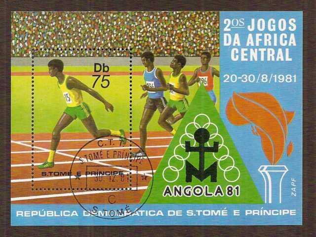 Sao Tome and Principe 1981 Central Africa Games souvenir sheet