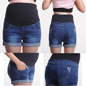 Pregnancy-Maternity-Jeans-Shorts-Pants-Over-Bump-Cute-Classic-Comfy-M-L-XL-XXL