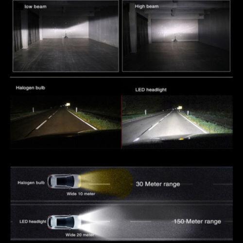 For Dodge Grand Caravan 2011-2017 72W H11 LED COB Headlight Hi//Lo Beam Light Set