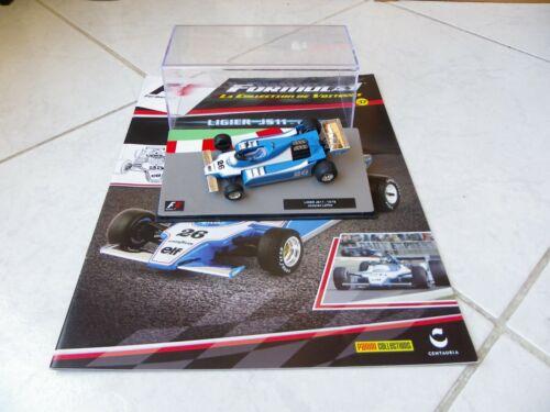 Ligier JS11 Jacques Laffite #26 1979 1//43 Ixo F1 Formule 1 fascicule