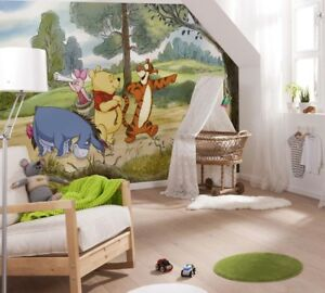 Details About Winnie The Pooh Wallpaper Disney Wall Mural Large Size For Baby Nursery Bedroom