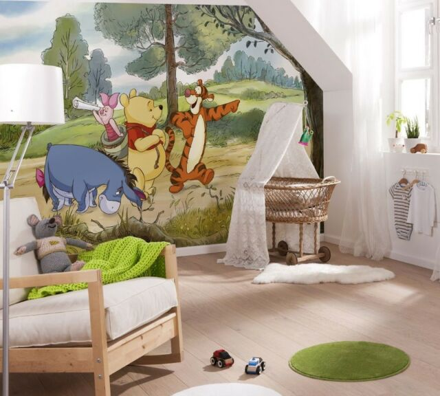 Winnie The Pooh Wallpaper Disney Wall Mural Large Size For Baby Nursery Bedroom