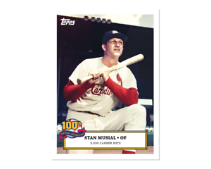 2020 Topps Stan Musial 100th Birthday Celebration Card *YOU PICK* Cardinals