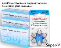 Zenipower Cochlear Implant Batteries, Size 675p (180 Batteries Total)