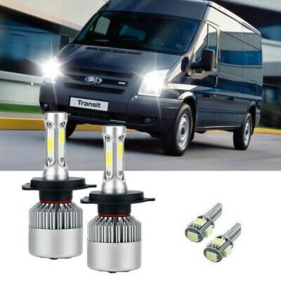 Ford Transit MK2 55w Clear Xenon HID High//Low Beam Headlight Headlamp Bulbs Pair