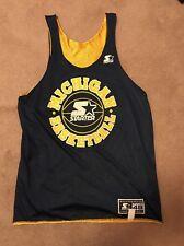 Vintage STARTER NCAA Basketball MICHIGAN WOLVERINES Reversible JERSEY Size 48