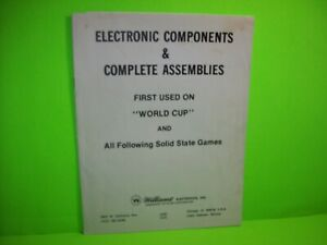 Williams-WORLD-CUP-Pinball-Machine-Electronic-Components-Assemblies-Manual-1978