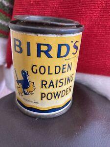 Vintage-Birds-Golden-Raising-Powder-Tin-1950s-Display-purposes-only