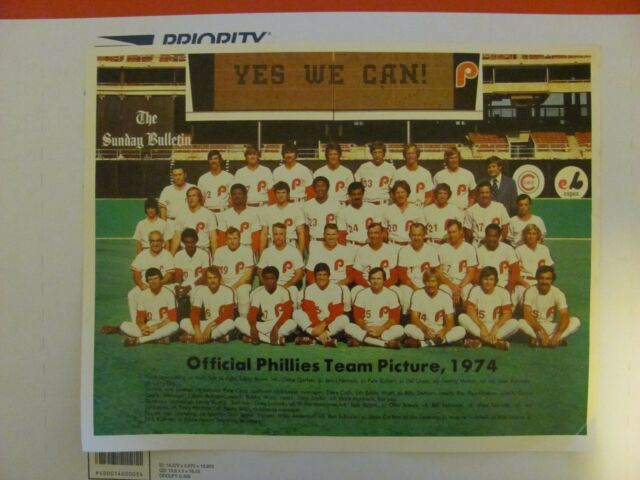 1974 Official Phillies Team Picture Philadelphia 10x13 Baseball MLB Photo Print