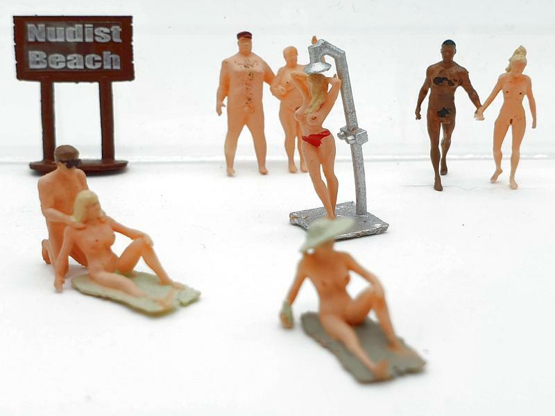 H0 1:87 escala figuras Iberplace 30002 Playa nudista modelismo