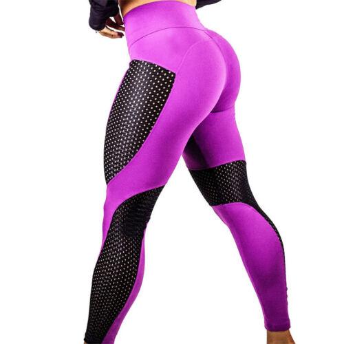 Damen Yoga Gym Sport Leggins Jogginghose Laufhose Push-up Fitnesshose Legging
