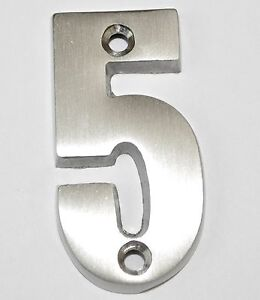 2 Inch Satin Nickel #5 House Numbers Home Address Plaque Number Sign MP2-5-619