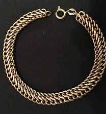 18k Solid Italian Yellow Gold Mesh Bracelet