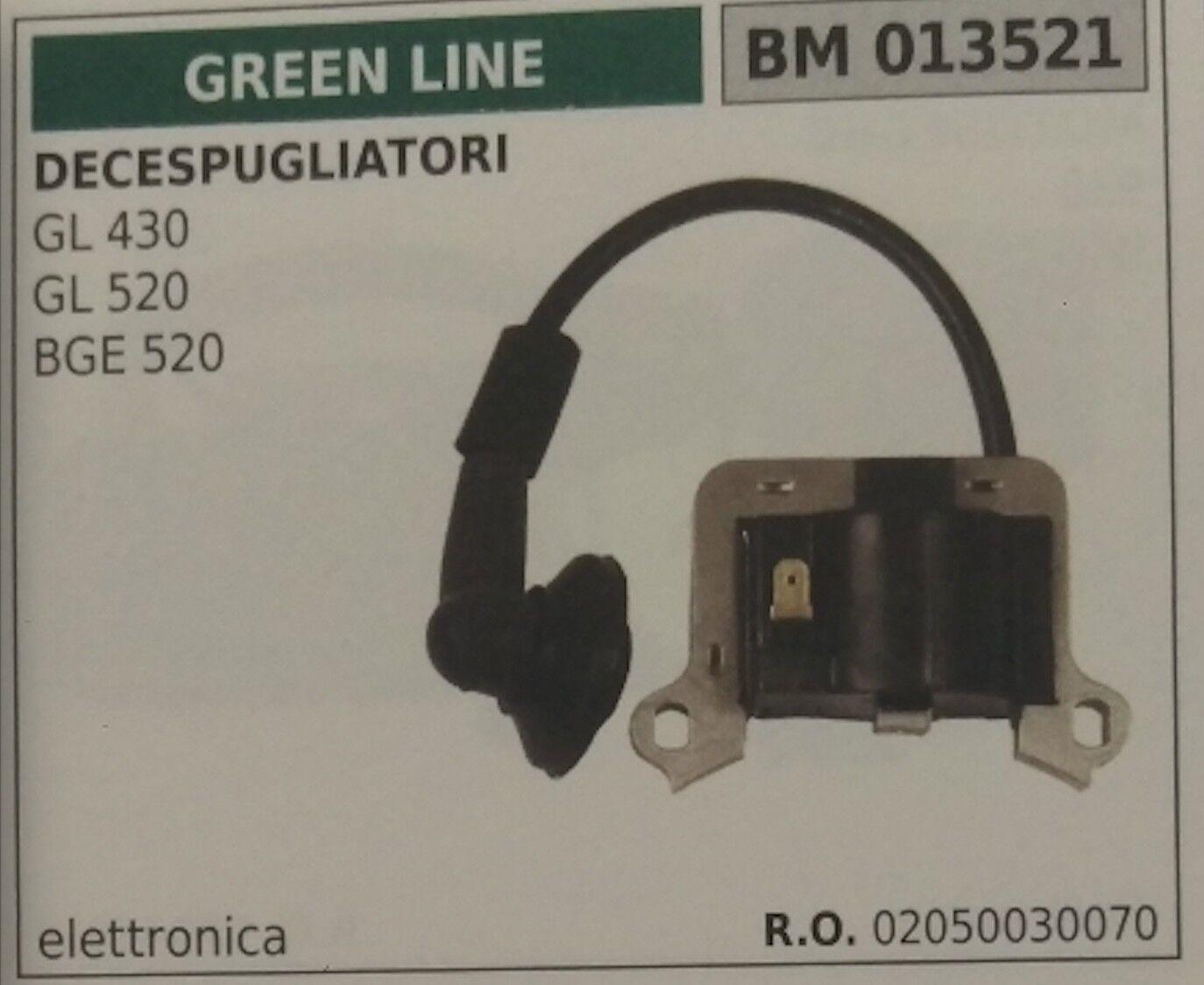 02050030070 Bobina Electrónica Cortador de Cepillo verde Line Gl 430 520 Bge 520