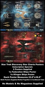 Eaglemoss-Star-Trek-Discovery-Star-Charts-Posters-2-Pack-Subscription-Specials