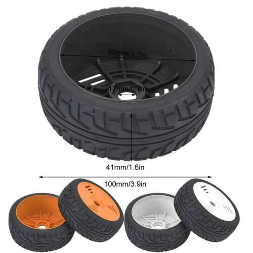 2pcs 1//8 RC Rim Hub Tires Rubber Tyres for On-road Racing RC Car Accessory