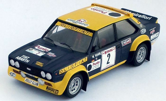 Fiat 131 Abarth  2 Olio Fiat, Rally San Martino 1977 Röhrl  1 43 Trofeu NEW