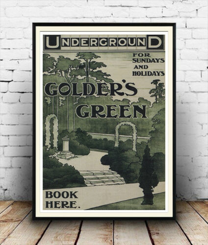 Old Travel Poster reproduction Golders Green