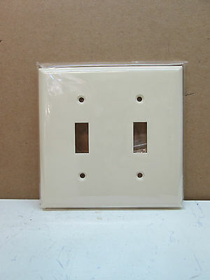 25 Pack Pep Two 2 Gang Toggle Switch Wall Plate Wallplate Cover Light Almond Ebay