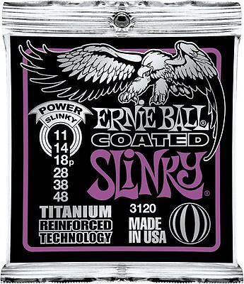 Ernie Ball 3120 Coated Electric Titanium Power Slinky Guitar Strings 11-48
