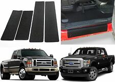 4pc Custom Fit Door Sill Scuff Guards For 1999-2016 Ford F-250 F-350 Crew Cab