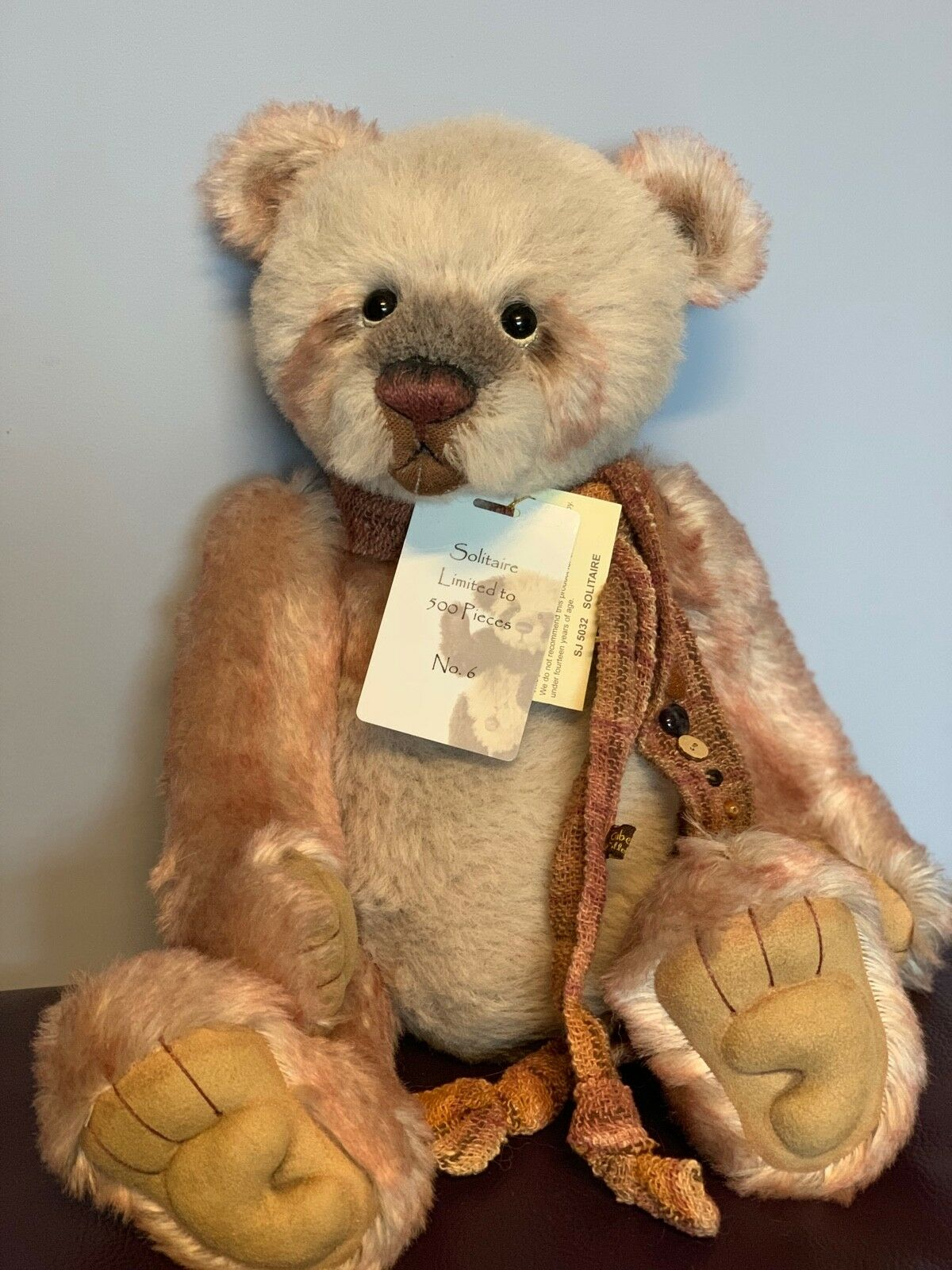 Charlie Bears Solitaire Low Number 6 17.5
